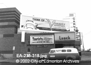 The Garneau Theatre from 87 Avenue circa 1960 - City of Edmonton Archives