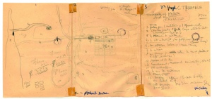 Le Corbusier's 1950 sketch musing on the possible future urban form of Adelaide, Australia - www.architectureaustralia.com.au